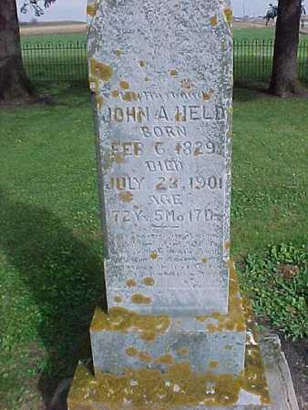 HELD, JOHN A. - Winneshiek County, Iowa   JOHN A. HELD
