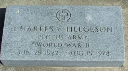 HELGESON, CHARLES E - Winneshiek County, Iowa   CHARLES E HELGESON