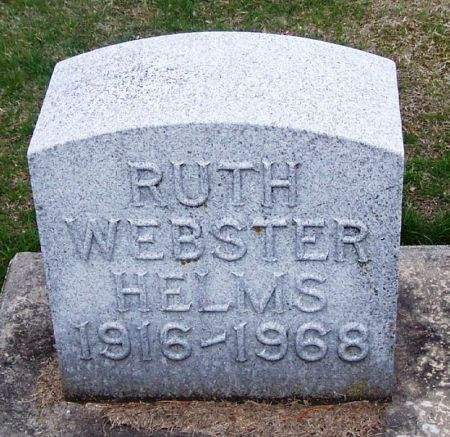 WEBSTER HELMS, RUTH - Winneshiek County, Iowa | RUTH WEBSTER HELMS