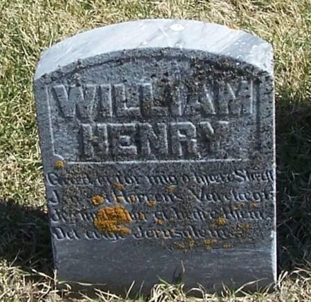 HENRY, WILLIAM - Winneshiek County, Iowa   WILLIAM HENRY