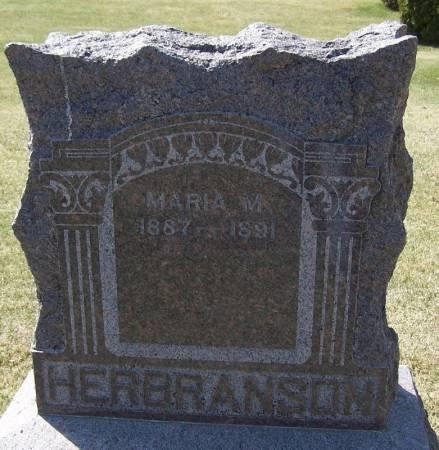 HERBRANSON, MARIA M - Winneshiek County, Iowa   MARIA M HERBRANSON