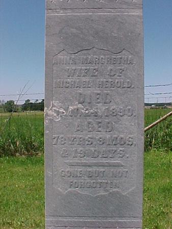 HEROLD, ANNA MARGRETHA - Winneshiek County, Iowa | ANNA MARGRETHA HEROLD