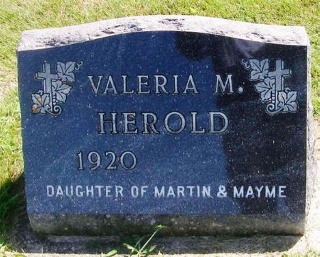 HEROLD, VALERIA M. - Winneshiek County, Iowa   VALERIA M. HEROLD