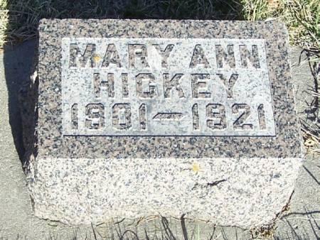 HICKEY, MARY ANN - Winneshiek County, Iowa   MARY ANN HICKEY