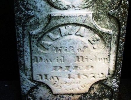HISLOP, ALMA E. - Winneshiek County, Iowa   ALMA E. HISLOP