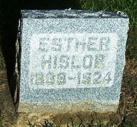 HISLOP, ESTHER - Winneshiek County, Iowa | ESTHER HISLOP