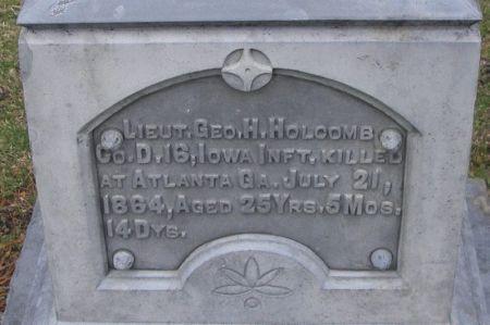 HOLCOMB, GEO. H. LIEUT. - Winneshiek County, Iowa | GEO. H. LIEUT. HOLCOMB