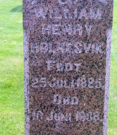 HOLKESVIK, WILLIAM HENRY - Winneshiek County, Iowa | WILLIAM HENRY HOLKESVIK