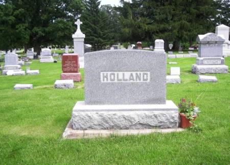 HOLLAND, PETER FAMILY STONE - Winneshiek County, Iowa   PETER FAMILY STONE HOLLAND