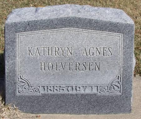 HOLVERSEN, KATHRYN AGNES - Winneshiek County, Iowa   KATHRYN AGNES HOLVERSEN