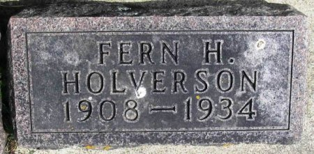 HOLVERSON, FERN H - Winneshiek County, Iowa | FERN H HOLVERSON