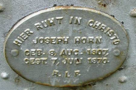 HORN, JOSEPH - Winneshiek County, Iowa | JOSEPH HORN