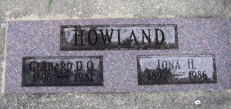 HOWLAND, GERHARD D. O. - Winneshiek County, Iowa   GERHARD D. O. HOWLAND