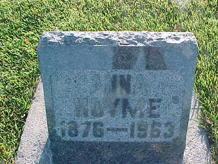 HOYME, ANNA - Winneshiek County, Iowa | ANNA HOYME