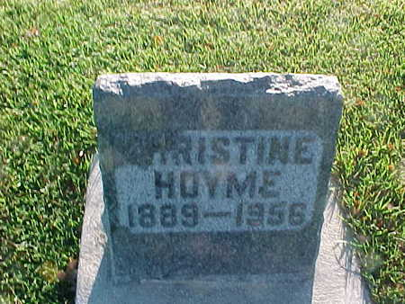 HOYME, CHRISTINE - Winneshiek County, Iowa | CHRISTINE HOYME