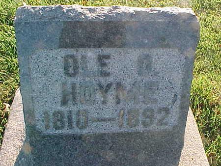 HOYME, OLE O. - Winneshiek County, Iowa | OLE O. HOYME