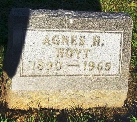 HOYT, AGNES H. - Winneshiek County, Iowa   AGNES H. HOYT