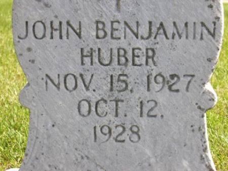 HUBER, JOHN BENJAMIN - Winneshiek County, Iowa | JOHN BENJAMIN HUBER