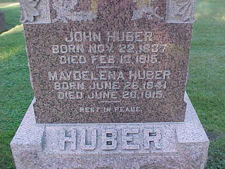 HUBER, JOHN - Winneshiek County, Iowa | JOHN HUBER