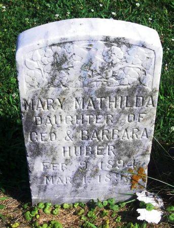 HUBER, MARY MATHILDA - Winneshiek County, Iowa | MARY MATHILDA HUBER