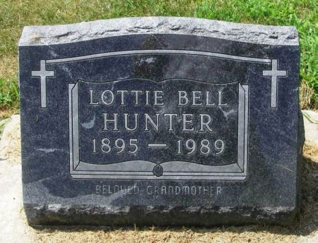 BELL HUNTER, LOTTIE - Winneshiek County, Iowa | LOTTIE BELL HUNTER