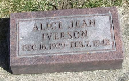 IVERSON, ALICE JEAN - Winneshiek County, Iowa   ALICE JEAN IVERSON