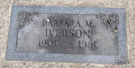 IVERSON, BARBARA M - Winneshiek County, Iowa   BARBARA M IVERSON