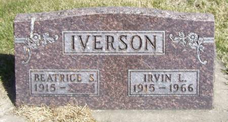 IVERSON, IRVIN L - Winneshiek County, Iowa   IRVIN L IVERSON