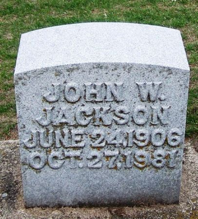 JACKSON, JOHN W. - Winneshiek County, Iowa | JOHN W. JACKSON