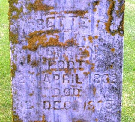 JENSEN, GRETTE G. - Winneshiek County, Iowa   GRETTE G. JENSEN