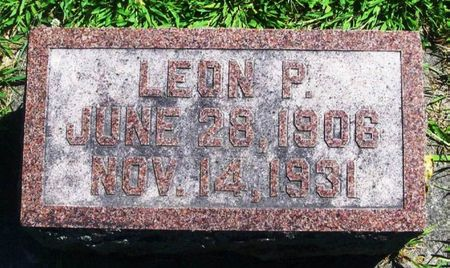 JIRAK, LEON P. - Winneshiek County, Iowa   LEON P. JIRAK