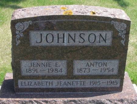 JOHNSON, ELIZABETH JEANETTE - Winneshiek County, Iowa | ELIZABETH JEANETTE JOHNSON