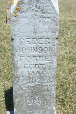 FORDE, PEDER JOHNSON - Winneshiek County, Iowa   PEDER JOHNSON FORDE