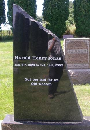 JONAS, HAROLD HENRY - Winneshiek County, Iowa | HAROLD HENRY JONAS