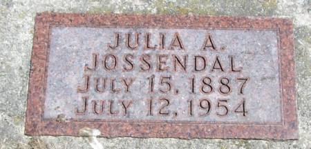 JOSSENDAL, JULIA A - Winneshiek County, Iowa   JULIA A JOSSENDAL