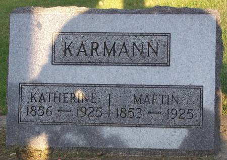KARMANN, MARTIN - Winneshiek County, Iowa   MARTIN KARMANN