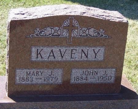 KAVENY, JOHN J - Winneshiek County, Iowa   JOHN J KAVENY