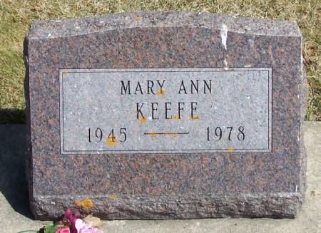 KEEFE, MARY ANN - Winneshiek County, Iowa   MARY ANN KEEFE