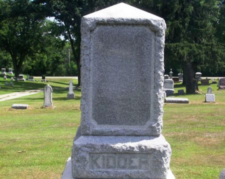 KIDDER, M. V. B. FAMILY STONE - Winneshiek County, Iowa | M. V. B. FAMILY STONE KIDDER