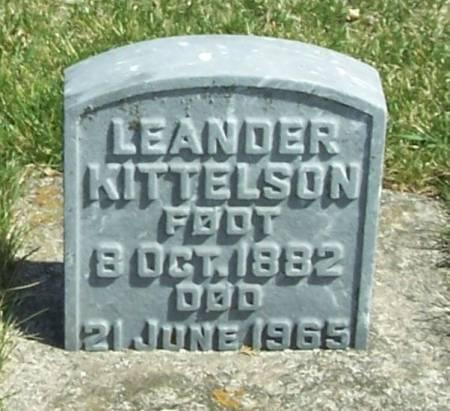KITTELSON, LEANDER - Winneshiek County, Iowa   LEANDER KITTELSON