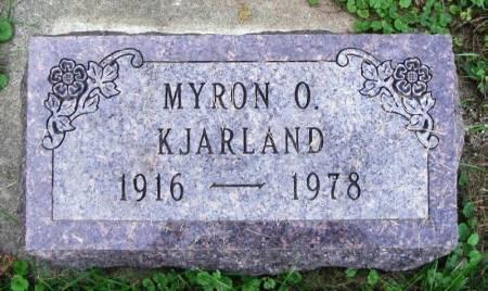 KJARLAND, MYRON O. - Winneshiek County, Iowa | MYRON O. KJARLAND