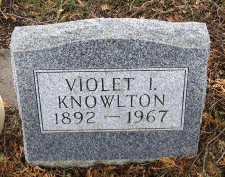 KNOWLTON, VIOLET I. - Winneshiek County, Iowa | VIOLET I. KNOWLTON