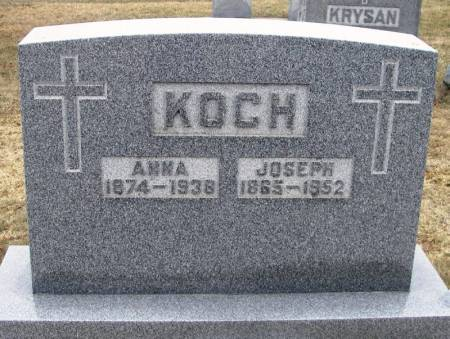 KOCH, JOSEPH - Winneshiek County, Iowa   JOSEPH KOCH