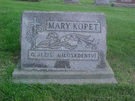 KOPET, MARY - Winneshiek County, Iowa | MARY KOPET