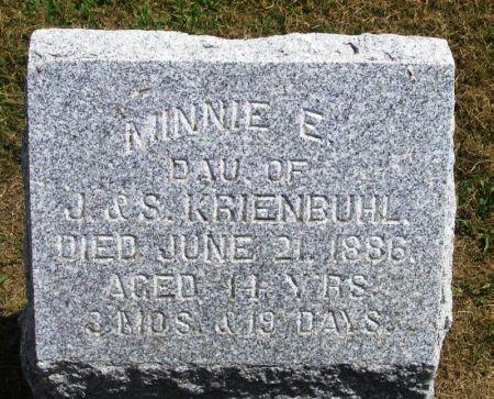 KRIENBUHL, MINNIE E. - Winneshiek County, Iowa | MINNIE E. KRIENBUHL