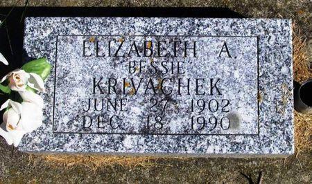 KRIVACHEK, ELIZABETH A. - Winneshiek County, Iowa   ELIZABETH A. KRIVACHEK