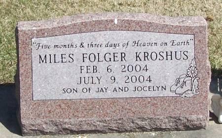 KROSHUS, MILES FOLGER - Winneshiek County, Iowa | MILES FOLGER KROSHUS