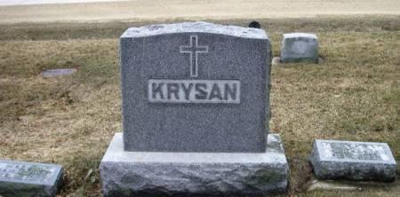KRYSAN, WENZEL FAMILY STONE - Winneshiek County, Iowa | WENZEL FAMILY STONE KRYSAN