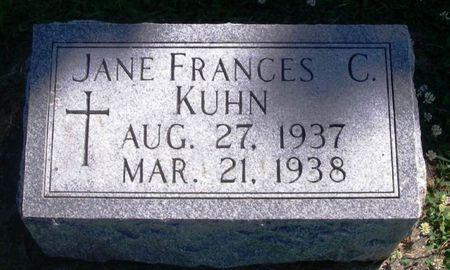 KUHN, JANE FRANCES C. - Winneshiek County, Iowa | JANE FRANCES C. KUHN