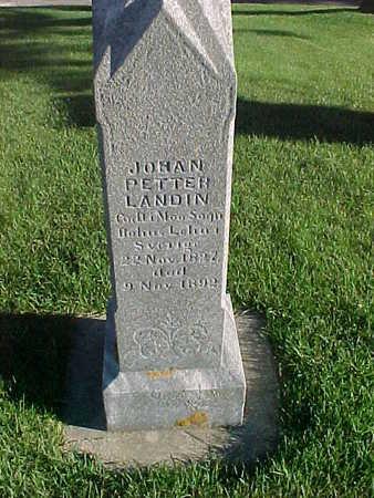 LANDIN, JOHAN PETTER - Winneshiek County, Iowa   JOHAN PETTER LANDIN